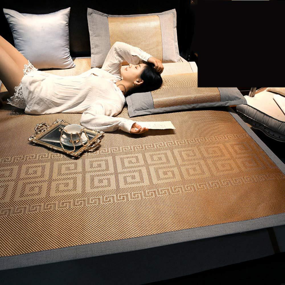YXLHJY Folding Ice Silk Summer Mat Mattress Topper,3-Piece Summer Air Conditioning Soft Summer Sleeping Mat Cooling Mattress Topper Pad-a Twinch2