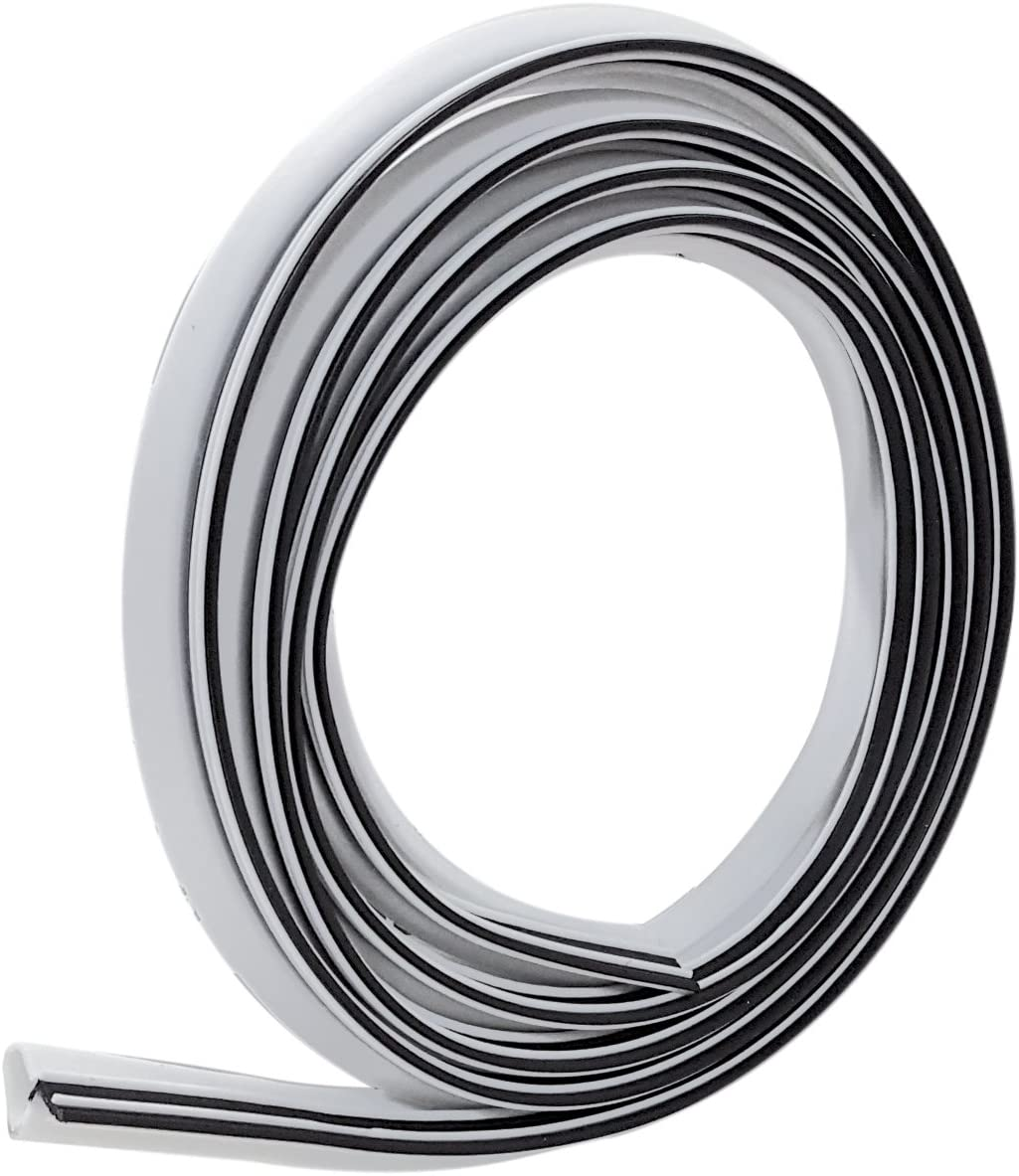 Frost King ES184W Weatherseal Replacement, 1/2In Wide x 3/4In Thick x 7Ft Long, White