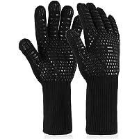 EXTSUD Barbecuehandschoenen, hittebestendig tot 800 °C, 1 paar BBQ-handschoenen, ovenhandschoenen, siliconen antislip…