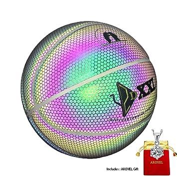 AROYEL pelota de baloncesto iluminada, pelota de baloncesto ...