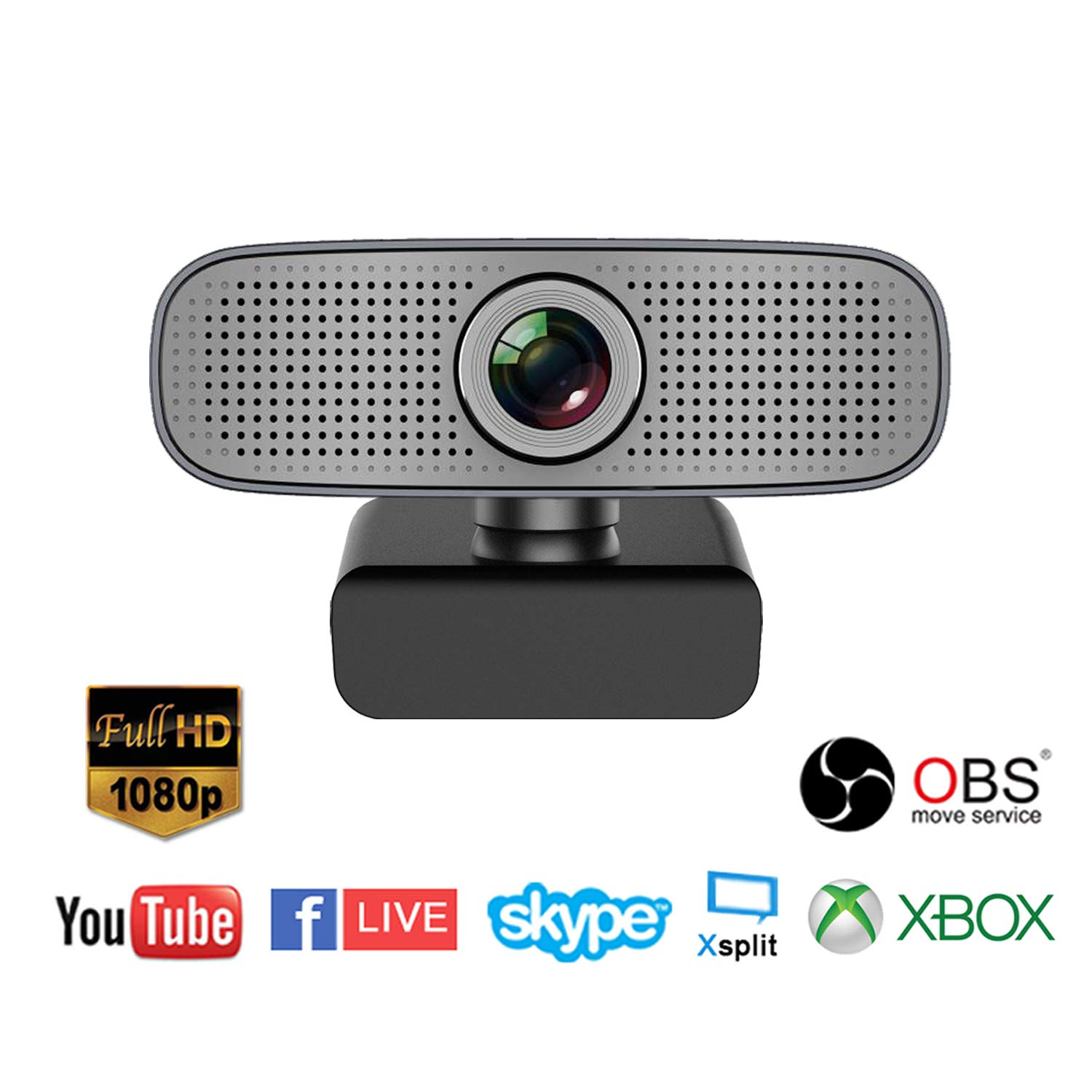Spedal Full HD Webcam 1080p, Beauty Live Streaming Webcam, Computer Laptop  Camera for OBS Xbox XSplit Skype Facebook, Compatible for Mac OS Windows