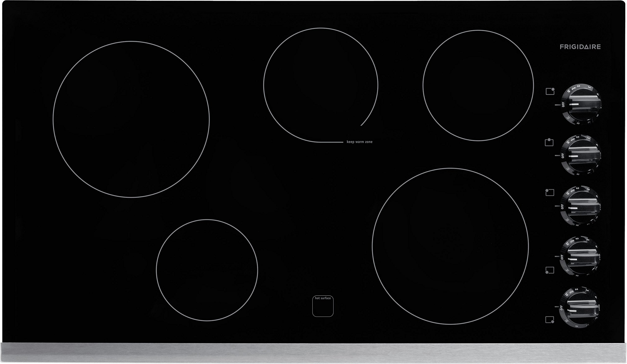 Frigidaire FFEC3624PS 36'' Smooth Top Electric Cooktop, Stainless Steel