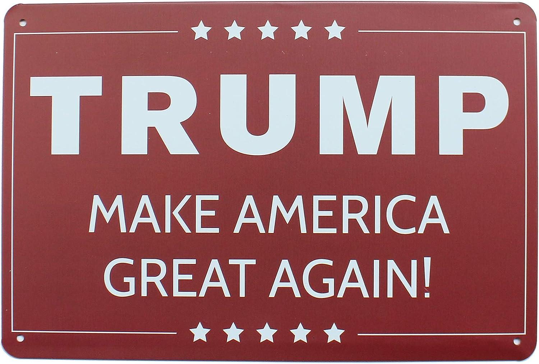K&H Retro Make America Great Again Trump Metal Tin Sign (Trump)
