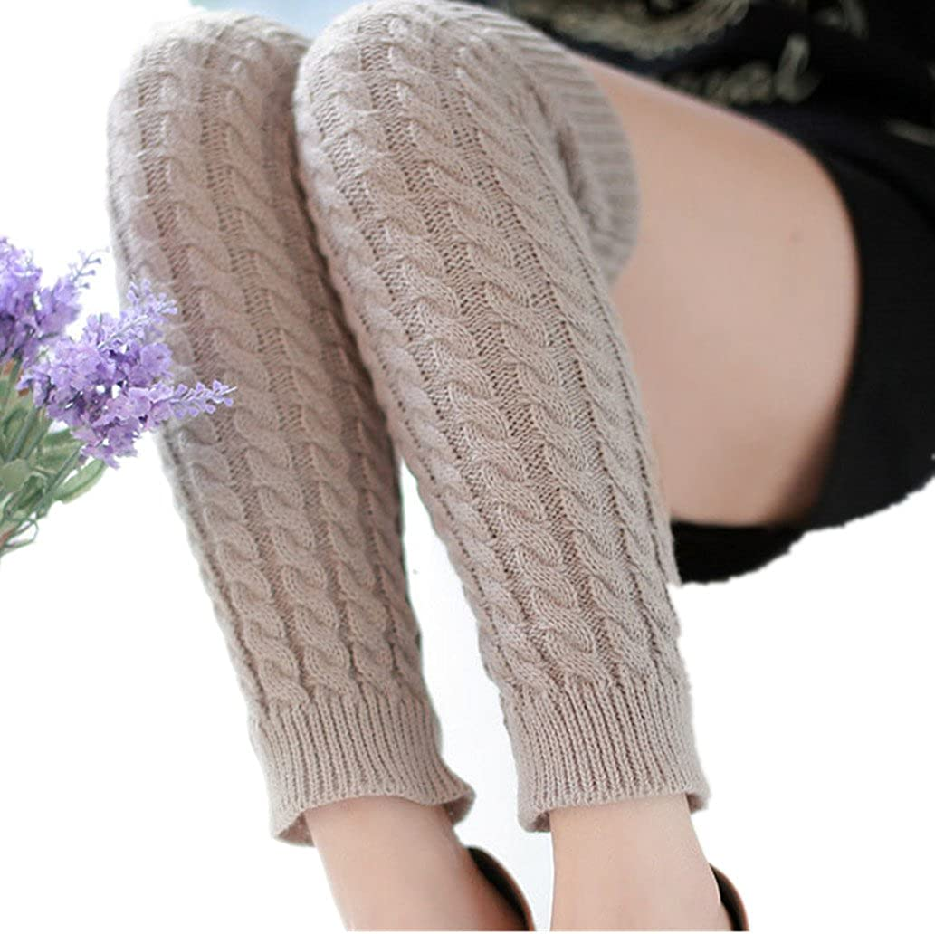 Winter Outdoor Fashion Warm Cable Knit Leg Warmers Foot Glove TM Binmer D