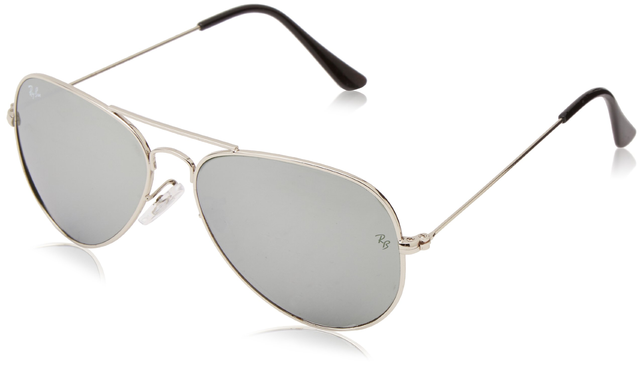 Ray-Ban Aviator Classic, White Metal/ Crystal Grey Gradient, 55mm by Ray-Ban