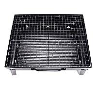 SM SunniMix Tragbar BBQ Tischgrill Holzkohle Grill Standgrill Rechteckig BBQ Grillständer Aus Eisen ✔ eckig ✔ tragbar ✔ Grillen mit Holzkohle ✔ für den Tisch