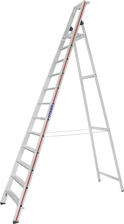 12 Stufen einseitig begehbar HYMER 802612 Stufenstehleiter mit Plattform SC80