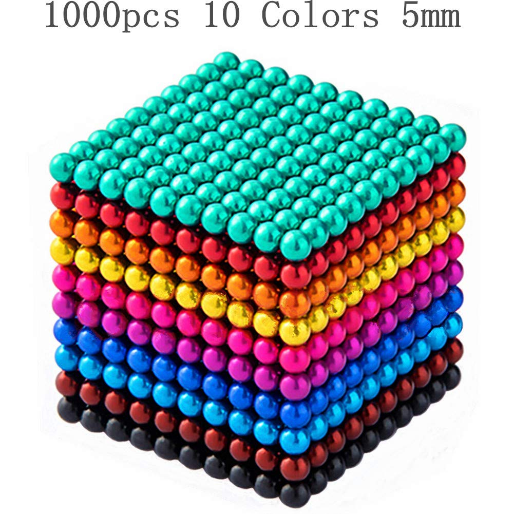 XIMI 1000 Pieces 5 Millimeter Magnets DIY Toys Magnetic Sculpture Building Blocks Fidget Gadget Toys for Intelligence Learning -Office Toy & Stress Relief for Adults by XIMI