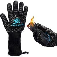 MLMLANT Barbecuehandschoenen, ovenhandschoenen met hittebestendigheid tot 800 °C, antislip handschoenen van katoen…