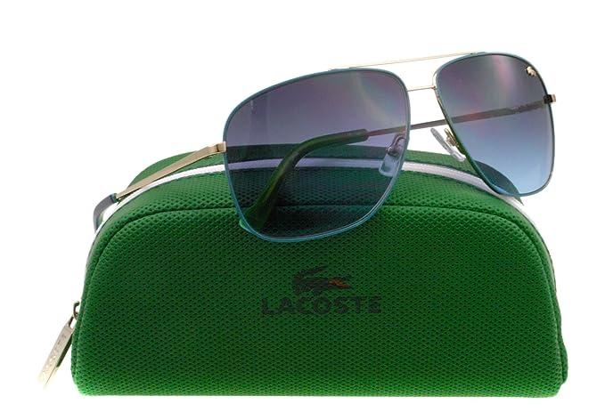 a32644f85e2a Lacoste L128S 757 Gold   Blue Sunglasses  Amazon.ca  Clothing ...
