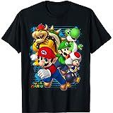 Nintendo Super Mario Luigi Bowser Spray Paint T-Shirt T-Shirt