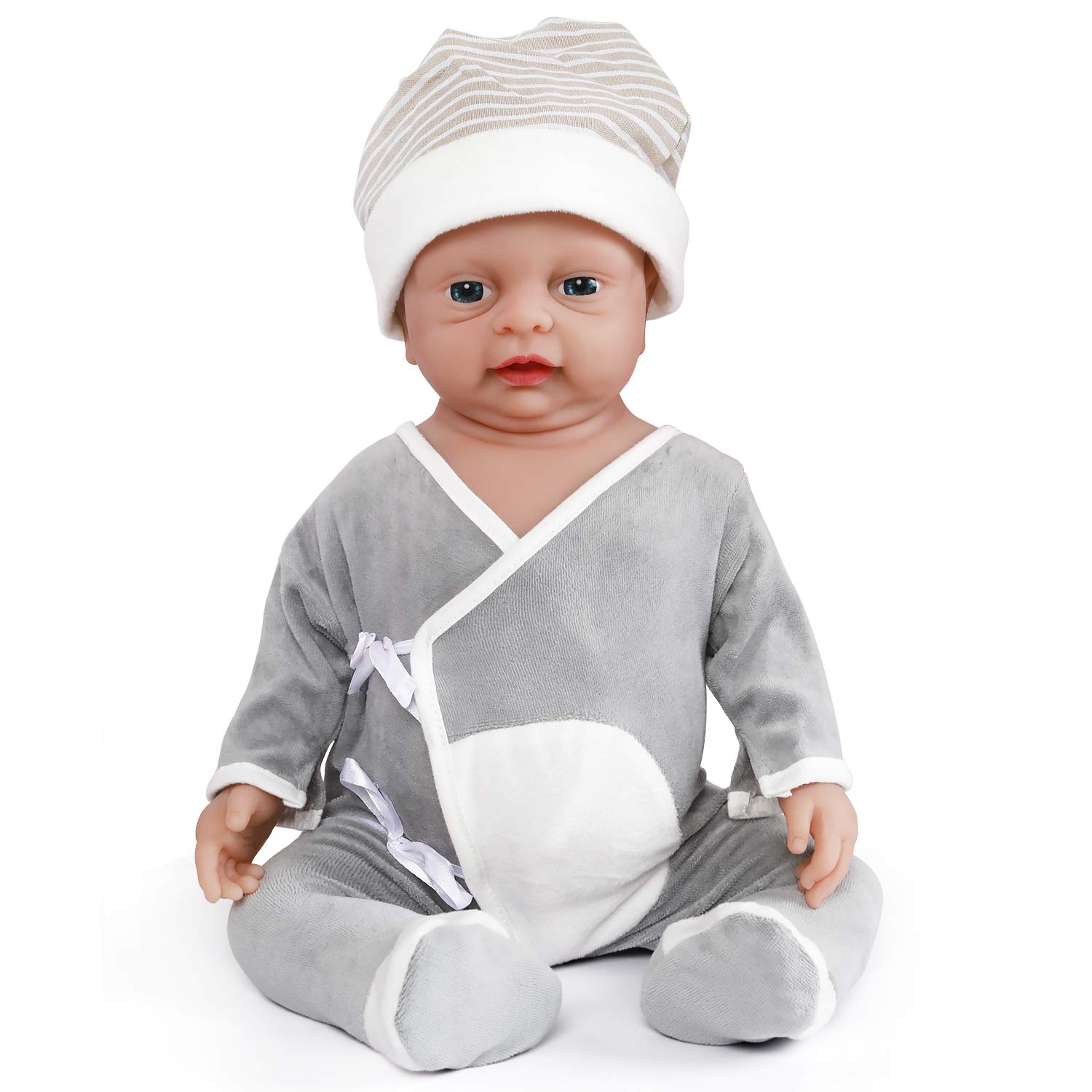 Vollence 18 Inch Realistic Reborn Baby Doll Pvc Free Real Full Body Silicone Baby Dolls Handmade Lifelike Soft Silicone Baby Doll Clothes Boy Buy Online In Cayman Islands At Cayman Desertcart Com Productid 66646705