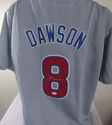 san francisco a7e0a c7d4d ANDRE DAWSON SIGNED AUTOGRAPHED CHICAGO CUBS JERSEY at ...