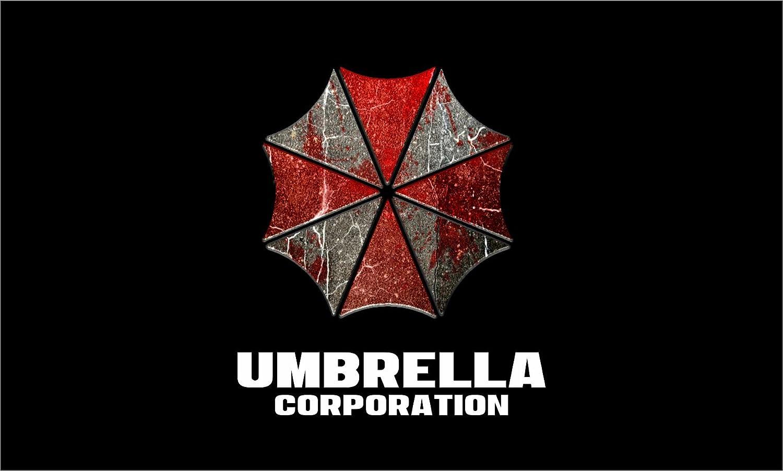 Amazon Resident Evil Flag Umbrella Corporation Long