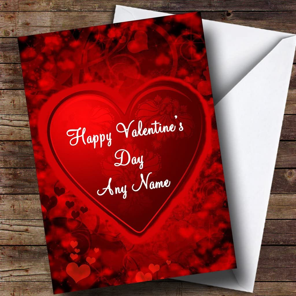 Amazon.com : Red and Black Love Heart Romantic Personalized
