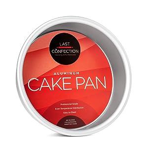 "Last Confection 6"" x 2"" Deep Round Aluminum Cake Pan - Professional Bakeware"