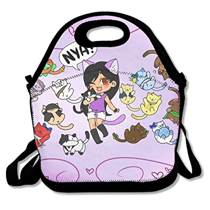 Amazon.com  Anan Aphmau And Cats Lunch Tote With Shoulder Strap ... 5c44f6f64cb5e