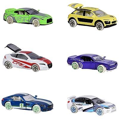 """'DICKIE Majorette 212054015Limited Edition 4""""Glow in the Dark, miniature véhicules, Lot de 3, selbstleuchtend, différents modèles Die-Cast–2,, 7,5cm"""