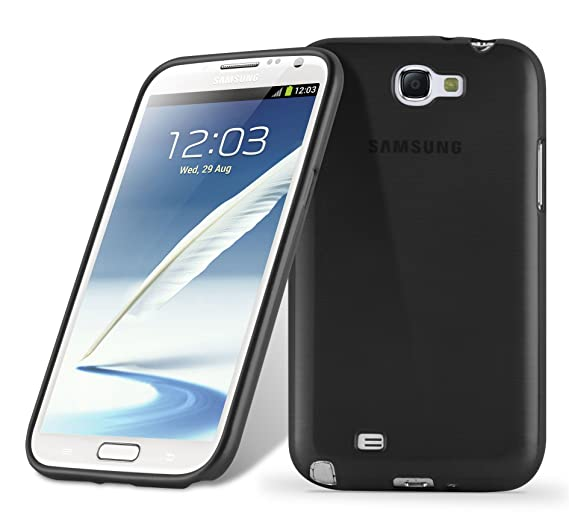 new product 9344e 9c6b1 Cadorabo Case Works with Samsung Galaxy Note 2 in Black – Shockproof and  Scratch Resistant TPU Silicone Cover – Ultra Slim Protective Gel Shell ...