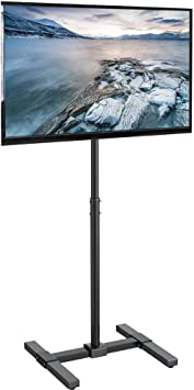 Amazon Com Vivo Tv Floor Stand For 13 To 42 Inch Flat Panel Led Lcd Plasma Screens Portable Display Height Adjustable Mount Stand Tv07 Home Audio Theater