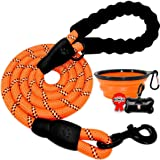 BARKBAY Dog leashes for Large Dogs Rope Leash Heavy Duty Dog Leash with Comfortable Padded Handle and Highly Reflective…