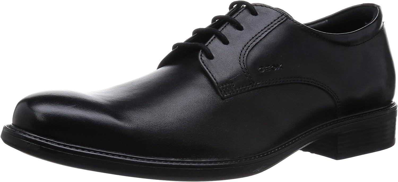 Geox Uomo Carnaby D, Zapatos de Cuero con Cordones para Hombre
