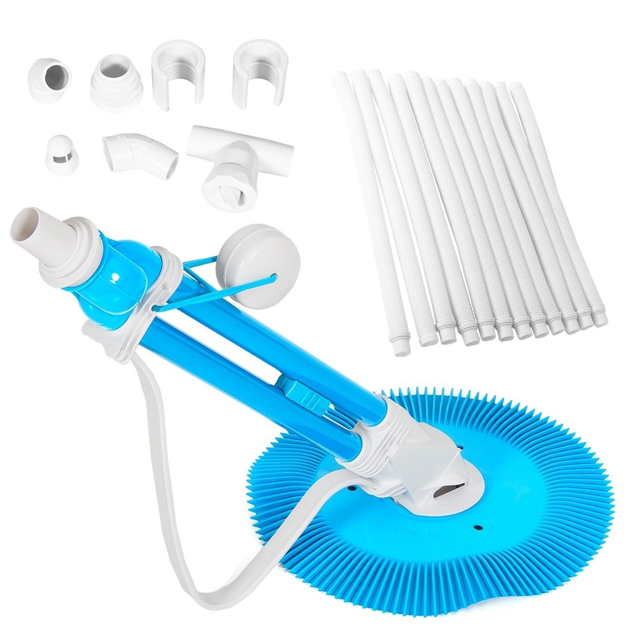Auto Inground & Above Ground Automatic Swimming Pool Cleaner w/Vacuum Hoses Set
