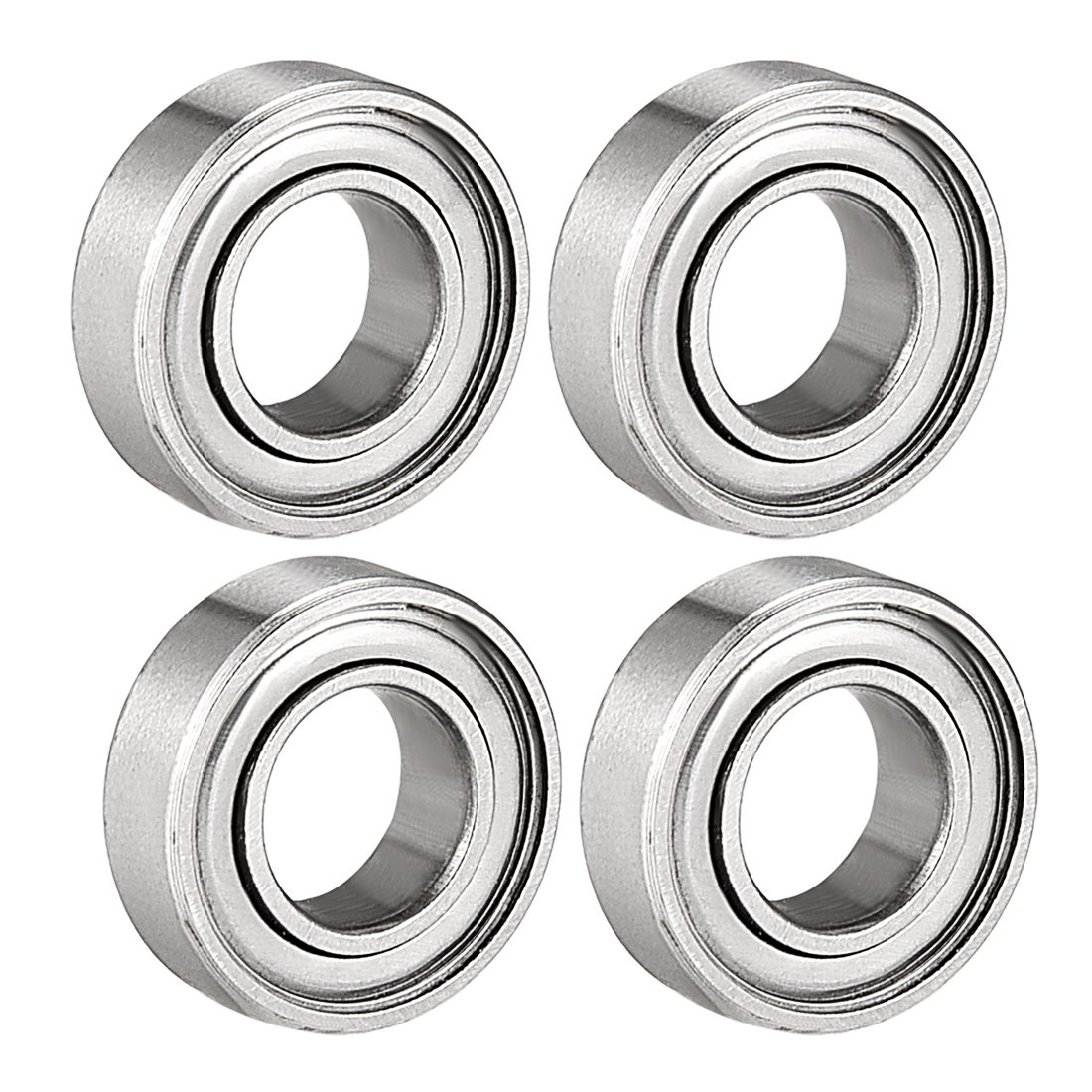 sourcing map 688ZZ Deep Groove Ball Bearing Double Shield 688-2Z 2080088, 8mm x 16mm x 5mm Carbon Steel Bearings (Pack of 4)