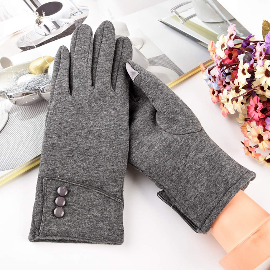FunDiscount Womens Winter Gloves Warm Touchscreen Fingers Gloves Thermal Soft Lining Elastic Cuff Texting Mittens Fleece Lined Touch Screen Gloves Windproof Gloves for Women Girls