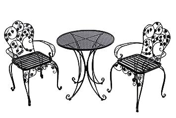 Latest Gartenset Bistroset Metall Antikstil Gartenmbel Garnitur Garten Cafe  Schwarz With Gartenstuhl Metall Antik