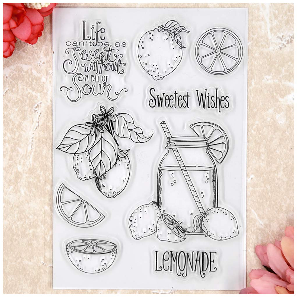 Kwan Crafts Sweetest Wishes Lemonade Clear Stamps for Card Making Decoration and DIY Scrapbooking