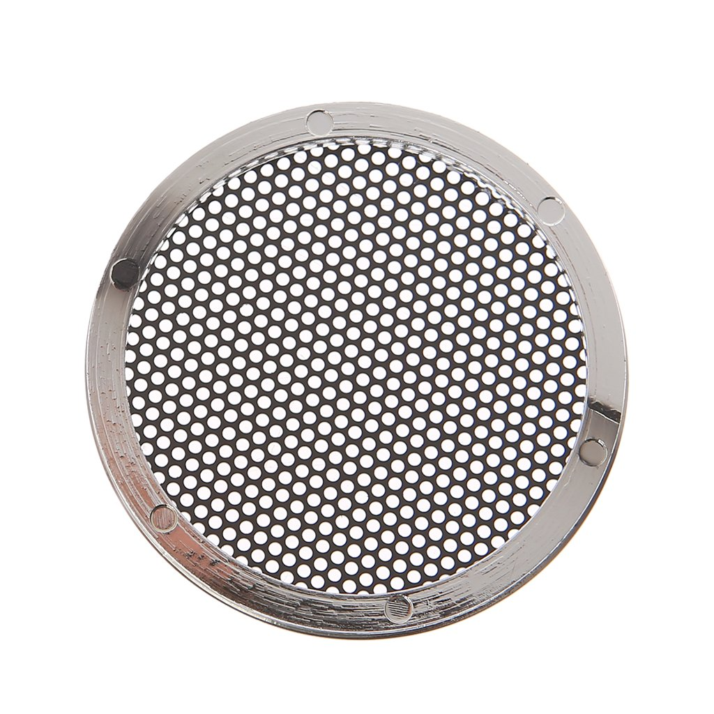 SimpleLife 1//2//3//4//5//6.5 inch Speaker Griglie Custodia Cover Rotonda Grill Altoparlante Protettivo Cerchio Decorativo Accessori Audio-ABS Nero
