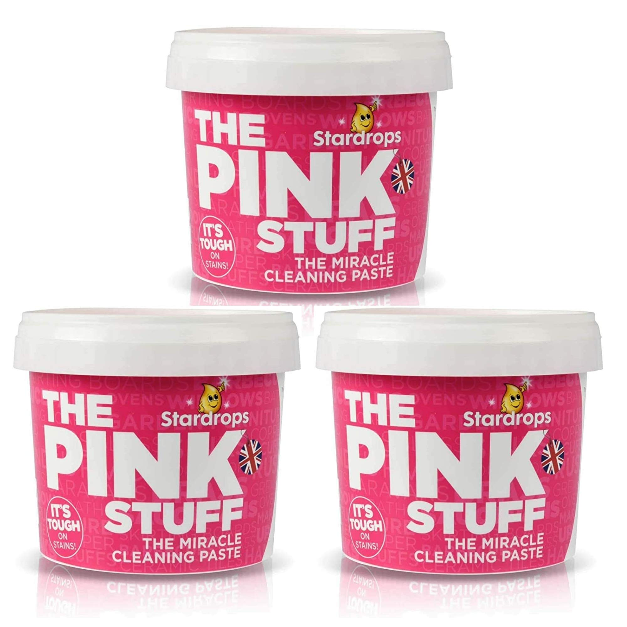 3 x The Pink Stuff Miracle Paste All Purpose Tough Household Cleaner 500g Hinch!