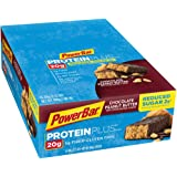 PowerBar Protein Plus Reduced Sugar Bar, Chocolate Peanut Butter, 2.12 oz Bar, (15 Count)