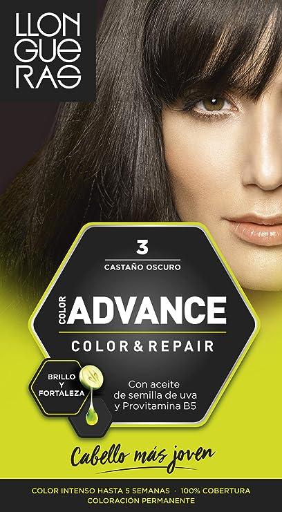 Llongueras Advance Tinte de Cabello Permanente Tono #3 Castaño Oscuro