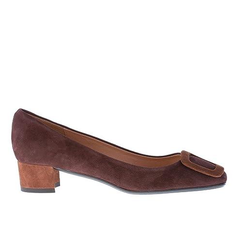 Scarpe con tacco camoscio marroni