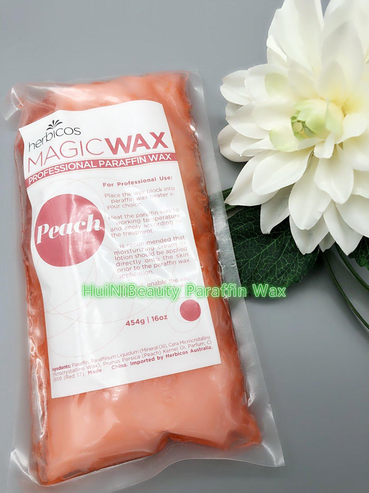 Huini Herbicos Beauty Antibacterial Paraffin Wax 2 lbs - Paraffin Wax - Peach 1lb/pc X 2 CD-RPW003-1
