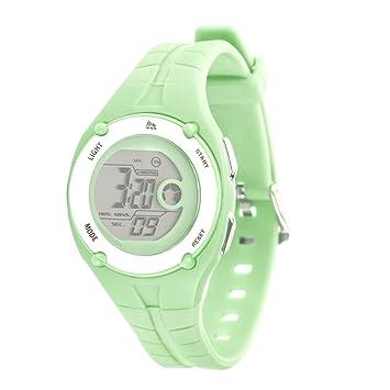 Rbx Digital de goma reloj, mujer, verde claro: Amazon.es: Deportes y aire libre