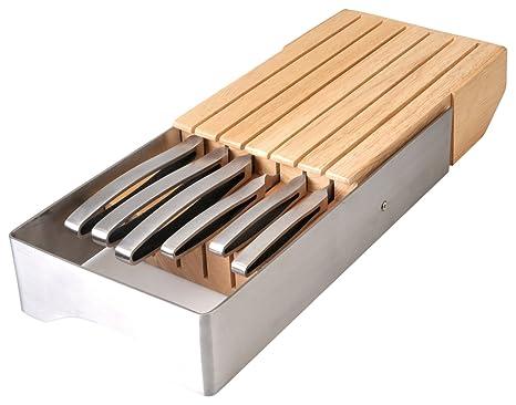 Amazon.com: BergHOFF Neo 7-Piece cajón bloque de cuchillos ...