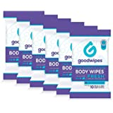 Goodwipes Really Big Body Wipes, Fresh Scent, Travel Packaging with Tea Tree Oil, Peppermint and Ginseng, Wipe Away Sweat and