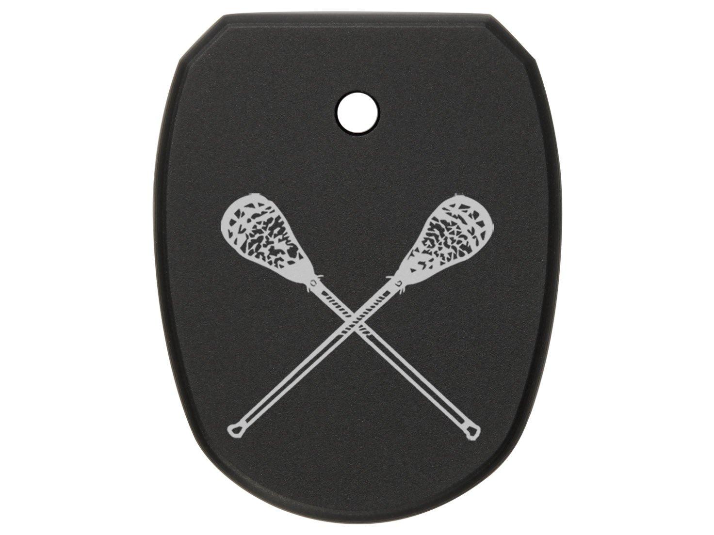 NDZ Performance for SIG Sauer P227 Floor Base Plate .45 Double-Stack Black Lacrosse Sticks Crossed