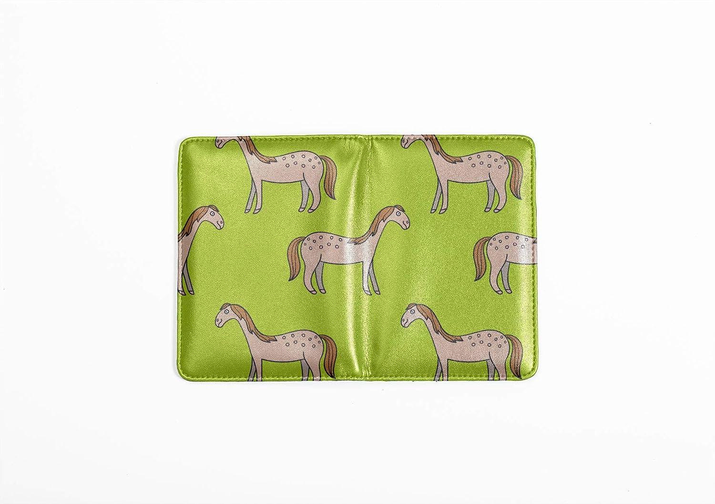 Passport Holder Cover Fashion Vintage Wild Cute Animal Horse Passport Covers Women Multi Purpose Print Waterproof Passport Case Travel Wallets For Unisex 5.51x4.37 Inch