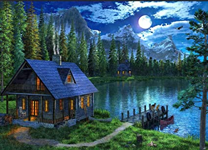 DIY Diamond Painting Full Drill Forest 5D Rhinestone Embroidery Home Decor