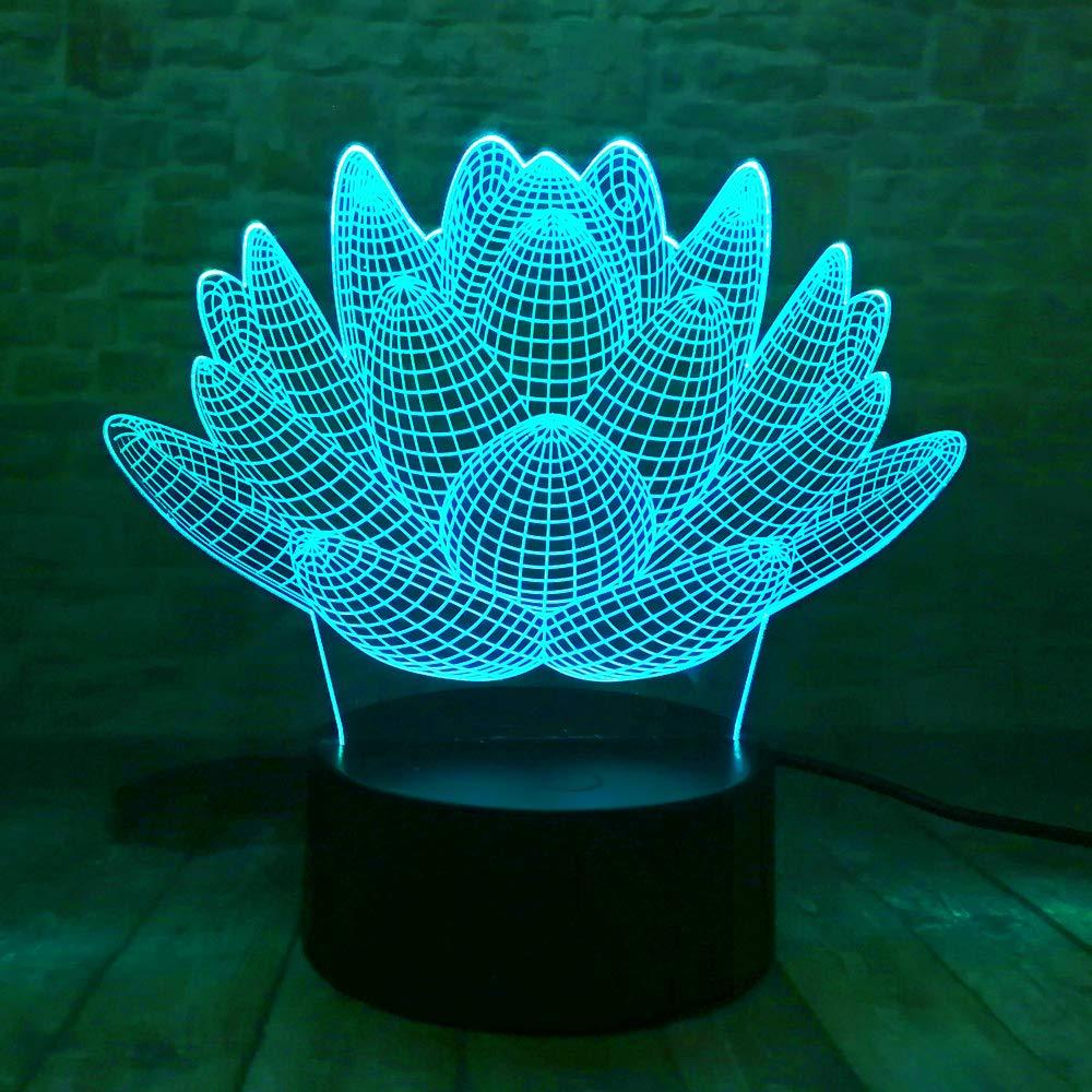 orangeww Lámpara de escritorio de mesa de ilusión óptica 3d / 7 ...