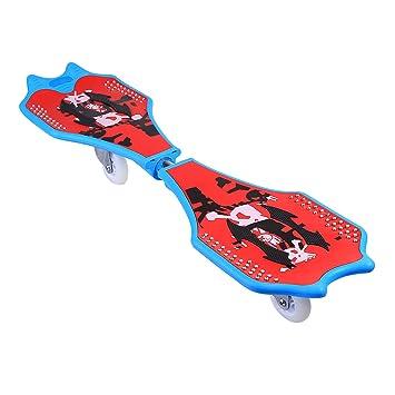 Profesional Kit de junta de ruedas ripstik Caster Junta calle Surf Waveboard con luz brillante –