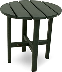 """POLYWOOD RST18GR Round 18"""" Side Table, Green"""