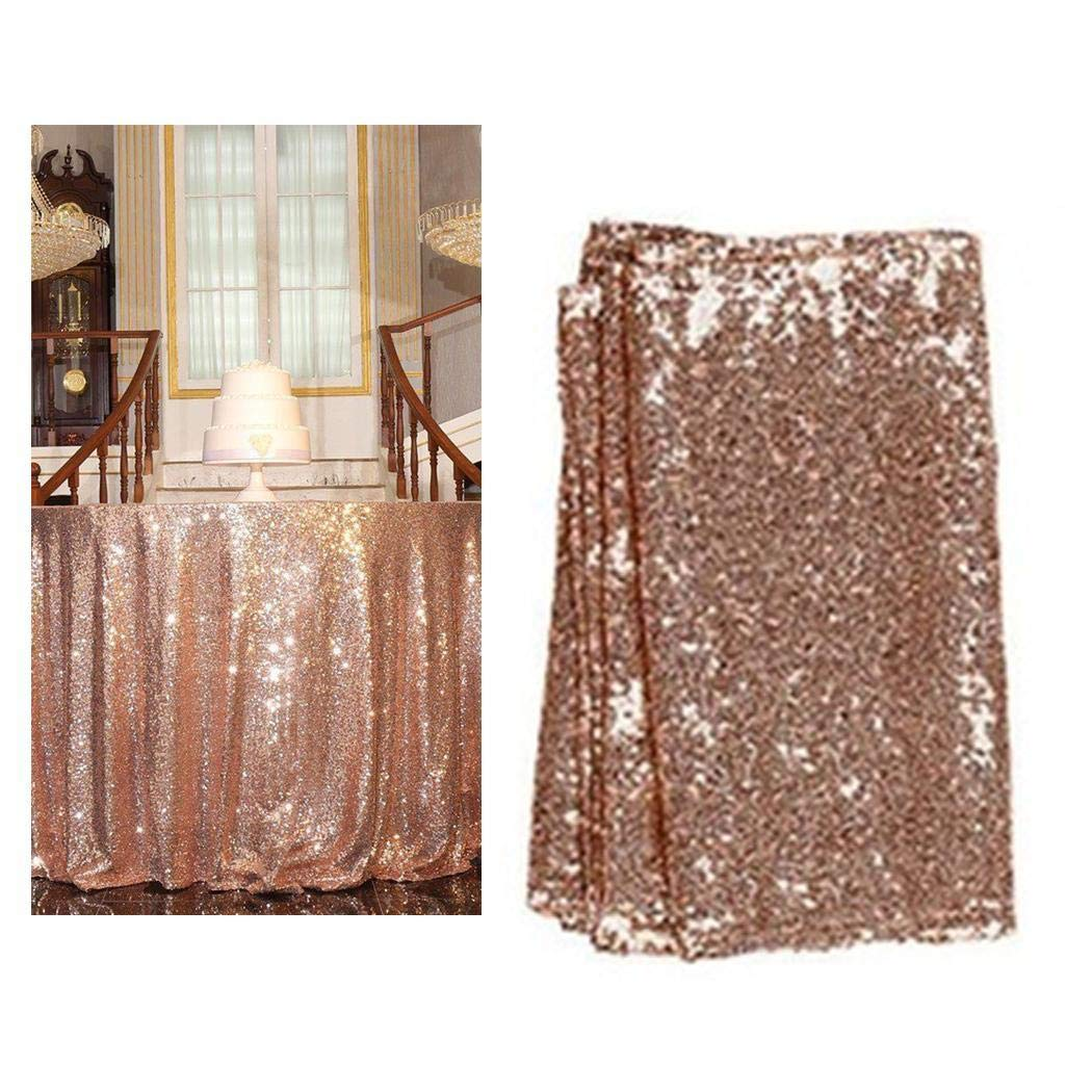 FANEO Wedding Table Cloth Glitter Sequin Tablecloth Party Engagement Decoration Tablecloths
