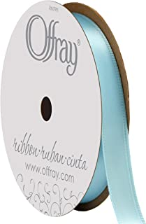"""product image for Berwick Offray 360132 3/8"""" Wide Single Face Satin Ribbon, Ocean Blue, 6 Yds"""