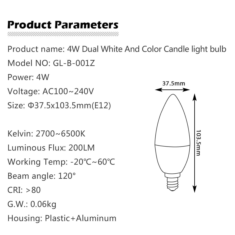 Amazon.com: GLEDOPTO RGBW Bombilla inteligente (versión ...