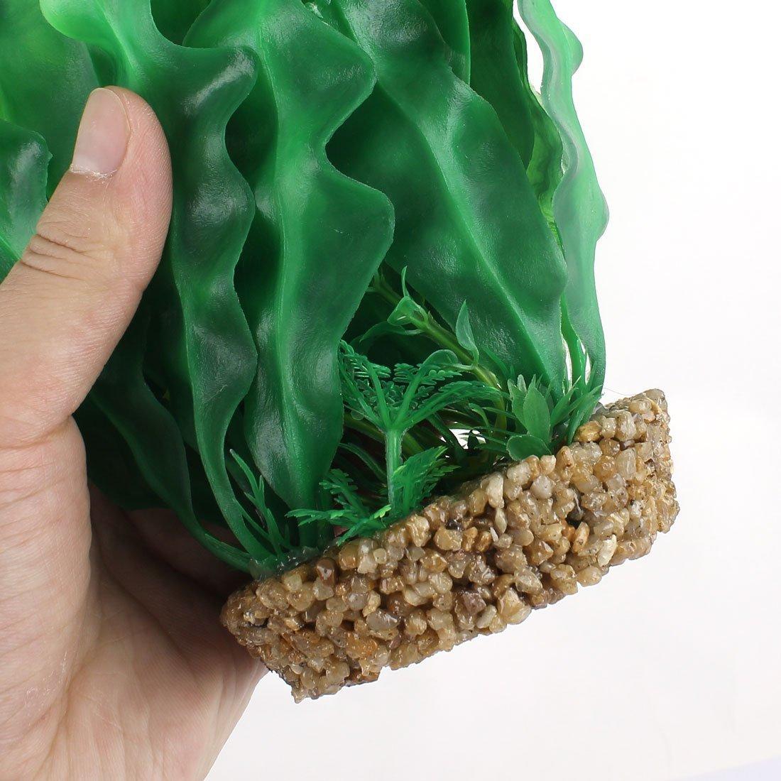 Amazon.com : eDealMax hoja de plástico decoración acuario Planta de agua Artificial DE 23 cm Alto Verde : Pet Supplies